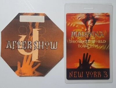 Authentic Madonna Drowned World Tour Aftershow and Backstage Pass unused set