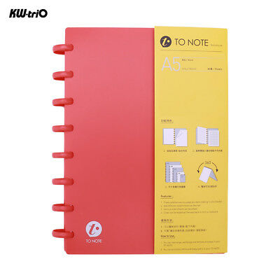 A5 Notebook Journal Diary Office Student Drawing Notepad Loose Leaf Paper V4V5