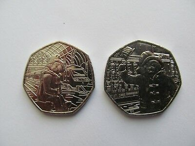 BOTH PADDINGTON BEAR 50p BRAND NEW UNCIRCULATED FROM A SEALED BAG STATION PALACE