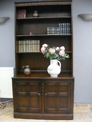 Vintage antique style Ercol 'Old Colonial' bookcase / cupboard / kitchen dresser