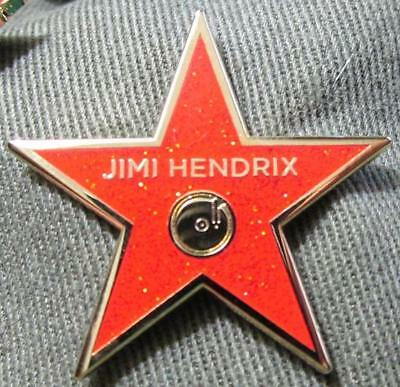 Jimi Hendrix PIN - Hollywood Walk Of Fame Star Rare Deluxe screw post