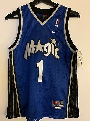 official photos d5f6e 87501 NEW AUTHENTIC TRACY McGrady Magic Nike Swingman Jersey Kids M TMac