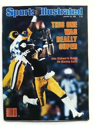 1980 PITTSBURGH STEELERS SUPER BOWL JOHN STALLWORTH Sports Illustrated NO LABEL