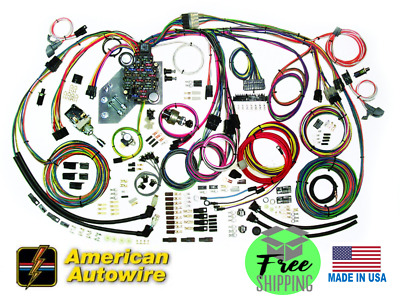 1955 56 CHEVY Belair Clic Update American Autowire Wiring ...  Chevy Wiring on