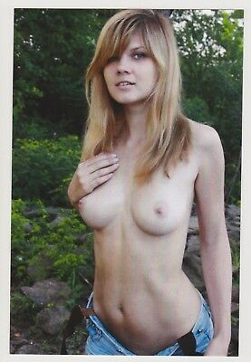 Postcard Pinup Risque Nude Stunning Girl Extremely Rare Photo Post Card 8878