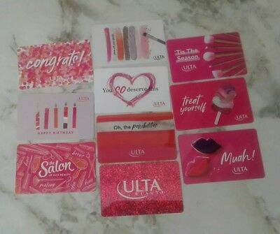 10 ULTA BEAUTY Gift Cards, Happy Birthday, Treat Yourself, Congrats, Collectible