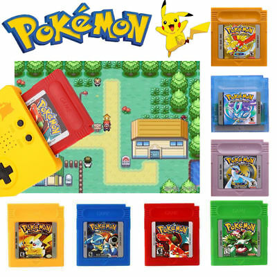 1/7 Pcs Sets Version Game Card Classic Video Games Nintendo Pokemon Gameboy GBC