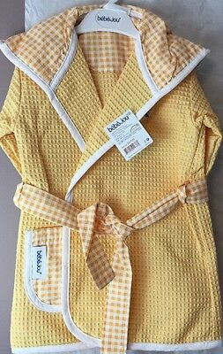 Baby Bath Towel  Robe - Bebe-Jou Bibi and Bobo Cotton Age 18 Months  Brand New