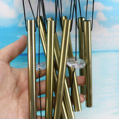 Antique Bronze Metal Tubes Bell Wind Chimes Friendship Yard Outdoor Craft Decor