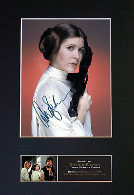 Star Wars - Carrie Fisher (Princess Leia) - *RARE* Signature / Autographed Photo