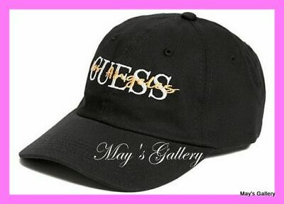 GUESS Jeans Baseball Hat Hats Leopard logo NWT One size Cap Adjustable Black