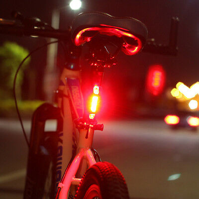 Portable USB Bike Bicycle Tail Rear Safety Warning Light Taillight  Lamp