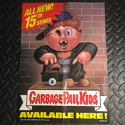 GARBAGE PAIL KIDS 1988 15th SERIES 15 PROMOTIONAL WINDOW POSTER AD PROMO