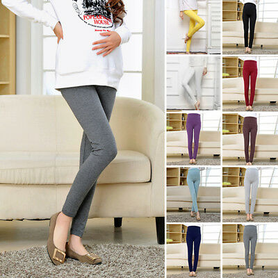 Maternity Pregnant New Leggings Fashion Color Pants Casual Soft Elastic Ladies