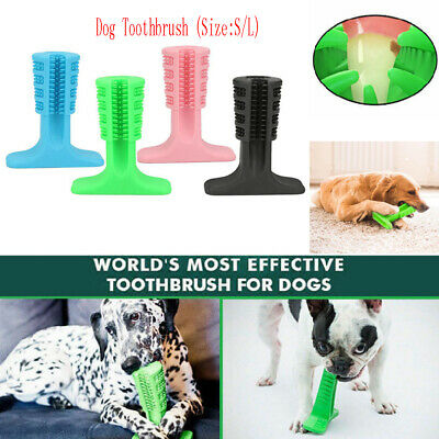 For Dogs Toothbrush Pet Puppy Teeth Cleaning Brushing Stick Chew Toys Oral Care