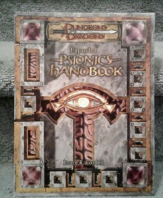 Dungeons & Dragons Expanded Psionics Handbook d20 3.5 Fantasy Roleplay HC Mint