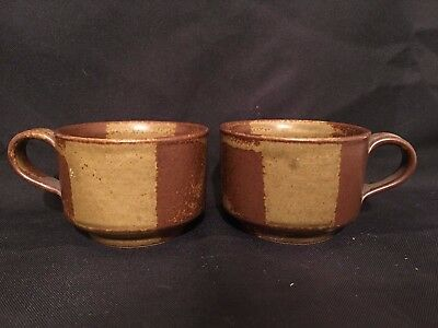 Set Of 2 Iron Mountain Stoneware Mug Cup Roan Mountain Beautifully Matched Pair