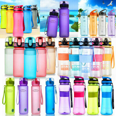 Portable Water Bottle Drinks Cup Kettle Camping Hiking Cycling Sports Workout