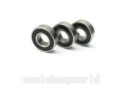 2pcs 6800-2RS 6800RS 6800 2RS 10x19x5mm Rubber Sealed Deep Groove Ball Bearing