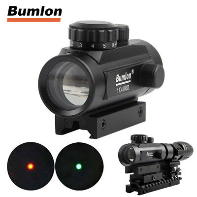 Tactical 1x40mm Red Green Dot Sight Rifle Scope Holographic Sight w/ Mount