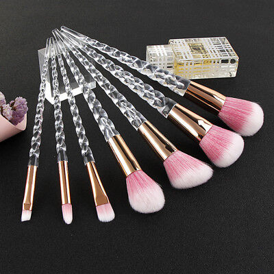 Beauty Crystal Unicorn Brush Powder Foundation Makeup Brushes Set Eyeshadow Brow