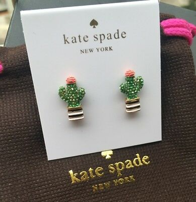 Authentic Kate Spade Multi Glitter Round Cut Stud Earrings New On