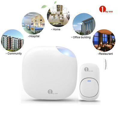 1byone Home Wireless Doorbell Waterproof Remote 100M Distance Newest Receiver US