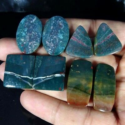 110.20Cts 100%Natural Blood Stone Pair Mix Cab Lot Loose AA+ Gemstone