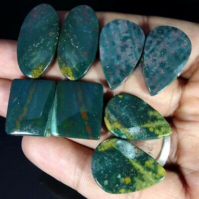 116.50Cts 100%Natural Blood Stone Pair Mix Cab Lot Loose AA+ Gemstone