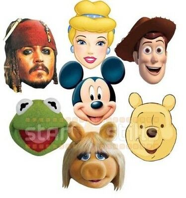 Offiziell Disney Party Gesichtsmasken Mickey Maus Muppets Prinzessin Toy Story &