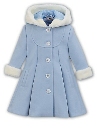 Sarah Louise Coat With Hood in Pink and Blue sizes 12m,18m & 2 yrs code 011423