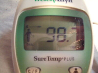 WELCH ALLYN SURETEMP SURE TEMP 690 PLUS THERMOMETER 409626 & Wall Holder! H2