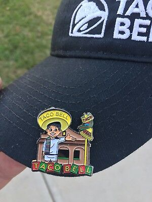 Rare Vintage Taco Bell Hat lapel Pin Live Mas fire Perfect Hot Mild Diablo