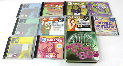 Lot of 16 Karaoke Discs Party Tyme MTV Hits of The 80s All Star Vintage 60s Pop