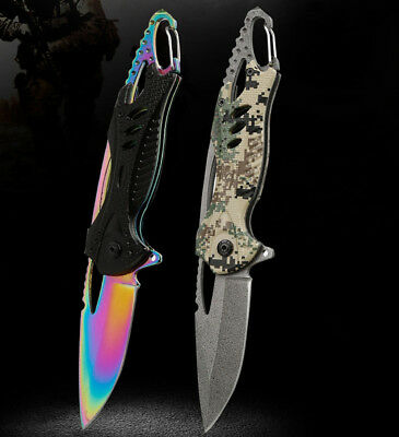 Tactical Folding Knife Survival Camping Outdoor Tool Hunting Fishing Knives