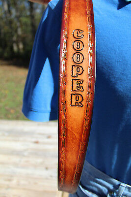 100% Leather Handmade Personalized Rifle Sling- Multiple Design Choices