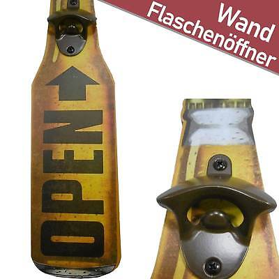 Flaschenöffner Open Beer Vintage Retro Opener Metall Bottle Bieröffner Holz NEU
