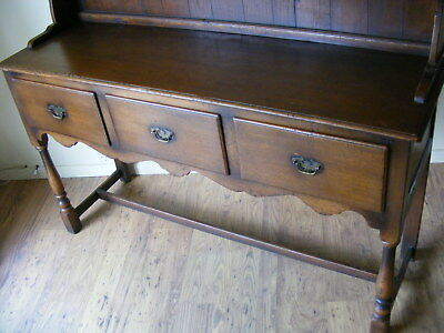 Antique Georgian style solid Oak kitchen dresser / Cupboard / sideboard