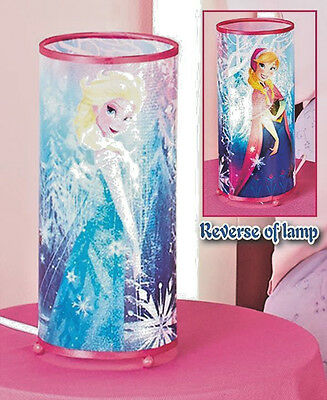 Disney Frozen Cylinder Lamp Featuring Anna and Elsa - New