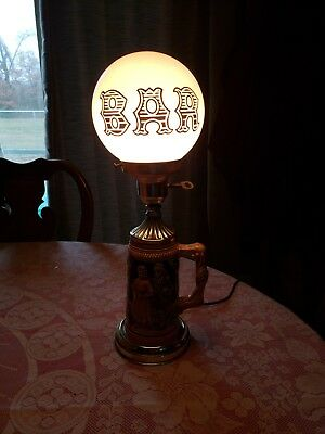 Vintage Beer Stein Bar Lamp