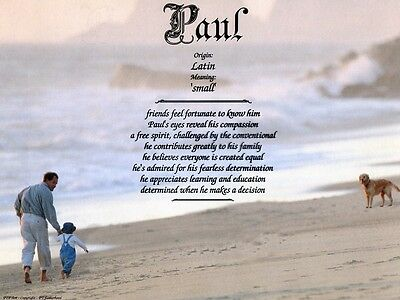 """""""Fatherhood"""" Name Meaning Print Personalized (Parents Children Father)"""
