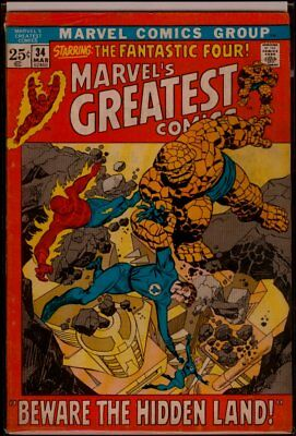Marvel's GREATEST Comics #34 Fantastic Four vs The Inhumans FN- 5.5
