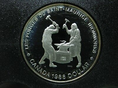 1988 250th Anniversary Saint-Maurice Ironworks in Quebec Canadian Silver Coin