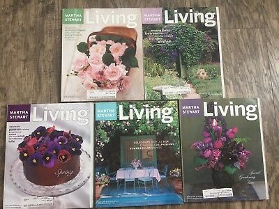Vintage lot of 5 Martha Stewart Living magazines late 1990s- all garden theme
