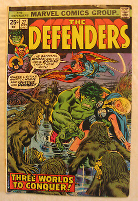 The Defenders #27, 1975 (GD/VG), Guardians of the Galaxy, 1st App. Starhawk