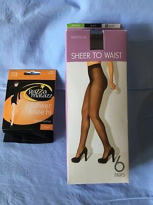 Vintage two packs of Panty Hose - Razza Matazz and KMart (6pairs)