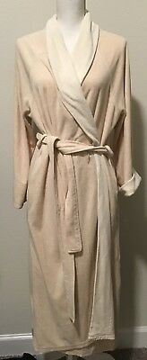 STAN HERMAN TALL Silky Plush Trimmed Wave Long Zip Robe -  17.99 ... aa982660c