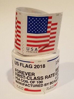 USPS Forever US Flag Postage Stamps, Roll of 100