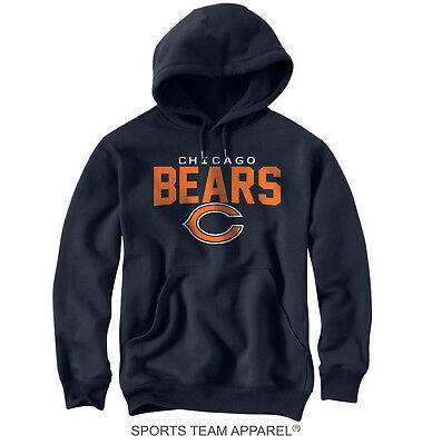 Chicago Bears Navy Blue Jersey Hoodie Sweatshirt