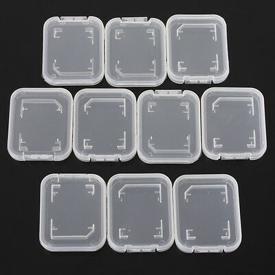 5X SD SDHC Memory Card Cases Holder Box Storage Hard Plastic Transparent Holder